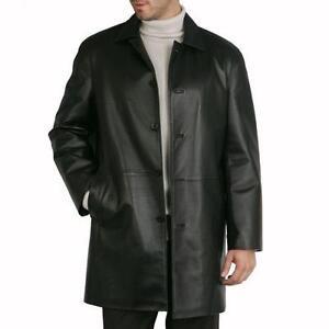 Mens Leather Coat | eBay