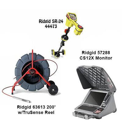 Ridgid 200 Wtrusense Reel 63613 Seektech Sr-24 Locator 44473 Cs12x 57288