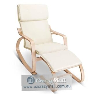Bentwood High Density Foam Armchair Set with Foot Stool