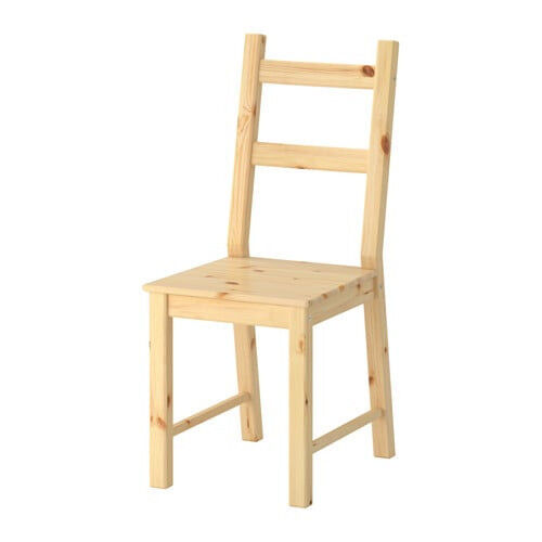 Chair solid, natural pine wood