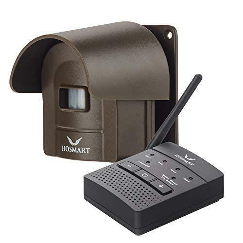 1/2 Mile Hosmart Rechargable Driveway Alarm Wireless Sensor System & Driveway