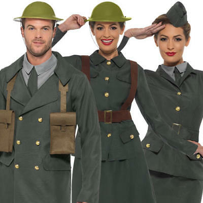 WW2 Fancy Dress Military Army Uniform Womens Mens 1940s World War Adult Costumes](Ww2 Fancy Dress Costumes)