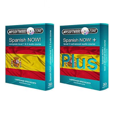 Sprechen Lernen Spanisch Sprache Fließend Basispaket Kurs Bündel Level 1, 2 & 3 (Sprechen Spanisch Cd)