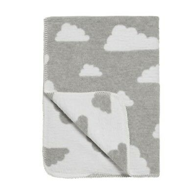 Meyco Cotton Baby Blanket (75 x 100 cm, Little Clouds Grey)