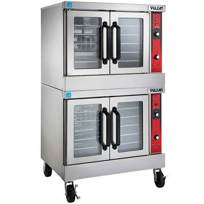 Vulcan Electric Vc44ed Double Deck Convection Oven Wcasters 208v