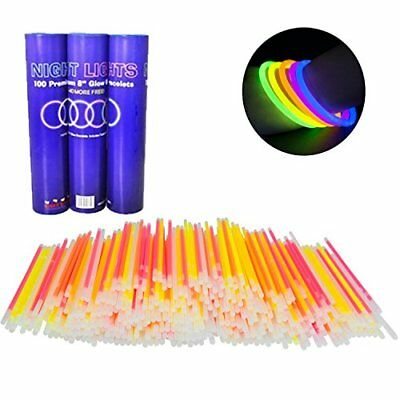 Glow Bracelets - 110pc Wholesale Pack of Glow Sticks w Connectors - - Glow Sticks Non Toxic