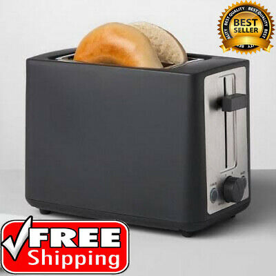 Stainless Inure Toaster 2 Slice Extra Wide Slot Automatic Shutoff Safety Toaster