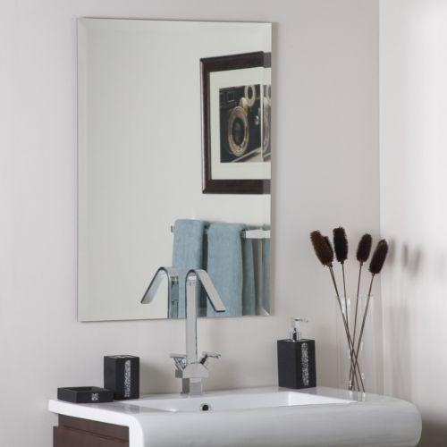Frameless Beveled Mirror Ebay