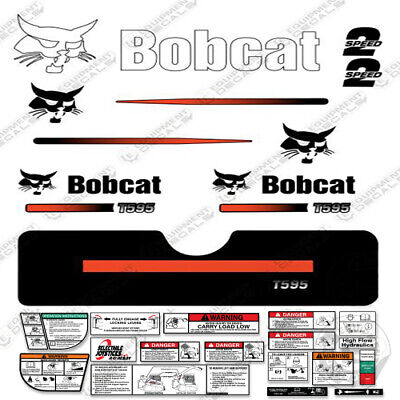 Bobcat T595 Compact Track Loader Decal Kit Skid Steer Straight Stripes