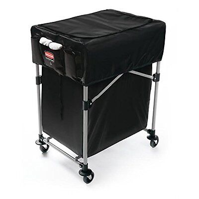 Rubbermaid 1889863 Collapsible Black X-cart Cover Small