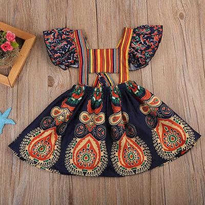 Kids Baby Girls Princess Dress Backless Party Pageant Boho Floral Dresses Skirts](Boho Girls Dresses)