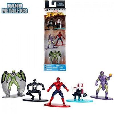 Nano Metal 5 figures Marvel Spider-Man Black Costume, Gwen, Vulture Green - Green Goblin Costume Kids