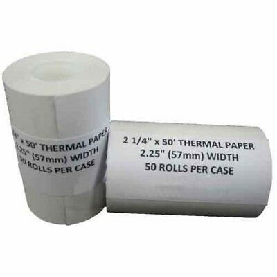 Credit Card 2 14 X 50 Thermal Paper Rolls Nurit 8000 100 Rolls Receipt Paper