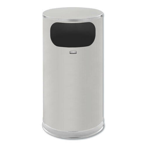 Rubbermaid Commercial SO16SSSGL 12 gal. European Receptacle Satin Stainless New