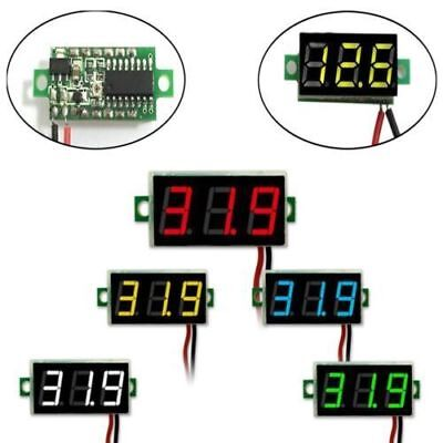 1x Universal 2-wire Dc 5-30v Voltmeter Led Panel 3-digital Display Voltage Meter