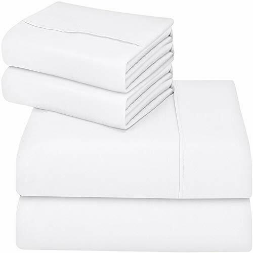 Soft Brushed Microfiber 4 Piece Bed Sheet Set with Pillow Ca