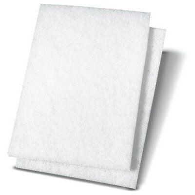 PREMIERE PADS 198 Light Duty Scour Pad, White, 6 X 9, 20/carton (Pad 198 Light)