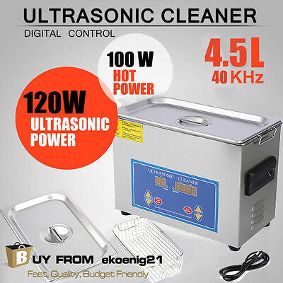 2017 Stainless Steel 4.5l Liter Industry Heated Ultrasonic Cleaner Heater Timer