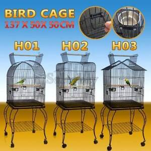 Open Top Bird Cage Parrot Aviary Pet Stand-alone Budgie Castor Thomastown Whittlesea Area Preview