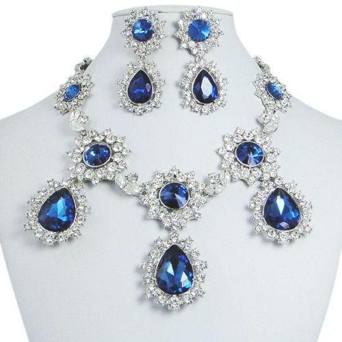 royal blue jewelry set ebay