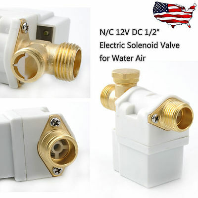 Electric Solenoid Valve For Water Air Nc Dc-12v 12 Normally Closed Operation