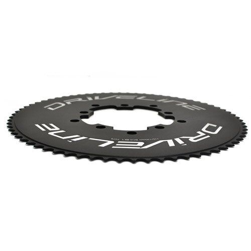 Driveline AL7075 Road Bike Bicycle TT Chainring 75T Black BCD 110//130mm