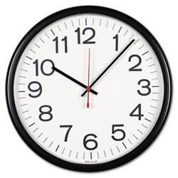 Universal Office Products 11381 Indoor/outdoor Clock, 13-1/2in, Black