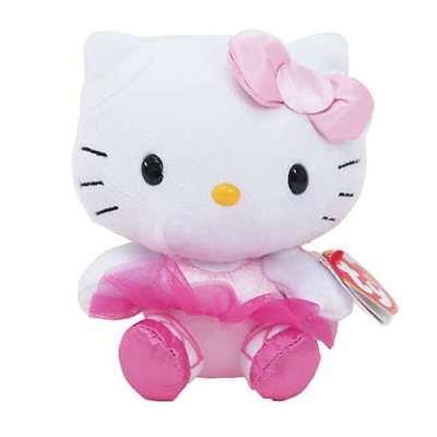 """TY Beanie Baby 6"""" HELLO KITTY BALLERINA Stuffed Animal Plush MWMT's Heart Tags"""