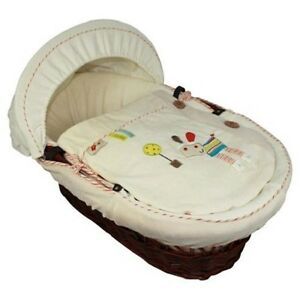 NEW 4 Piece Lollipop Lane Herbs Garden Moses Basket Dressing, Bedding, Covers.