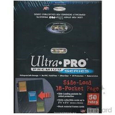 50 ULTRA PRO Premium 18 Pocket Side Load Pages Sheets New in Box