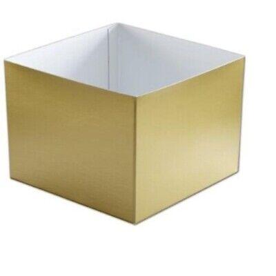 H86-115 Gold Hi-Wall Gift Box Bottoms, 8 x 8 x 6
