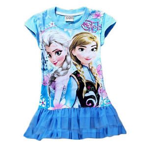 Girl Frozen Elsa and Anna Dress