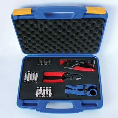 Compression Tool Kit - 518 Compression tool, stripper, cutter and connectors