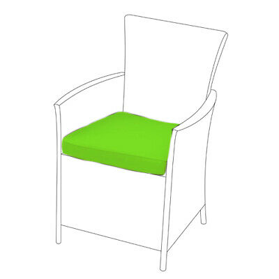 Lime 6 Pack of Replacement Dining Chair Cushions to fit Rattan Garden Furniture