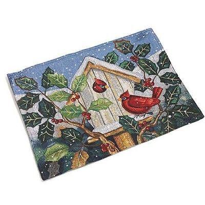 Urlaub Weihnachten Wandteppich Platzdeckchen 4er Set Weihnachtsmann Rotkardinal
