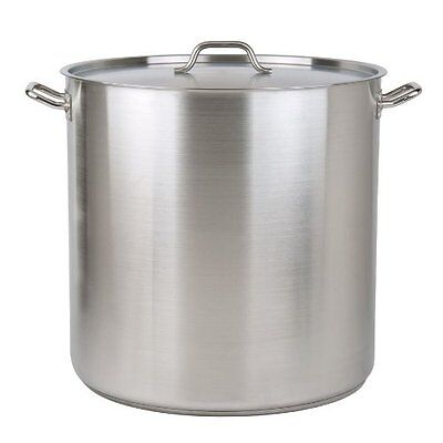 100 Quart Stock Pot - 100 Quart Heavy-Duty Stainless Steel Stock Pot with Cover 3-Ply Clad