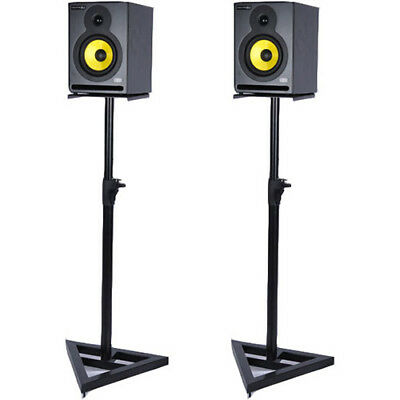 """PA Speaker Stands - Holds up to 10"""" Speakers - SS3518-K 2 Piece Set Deco Gear"""