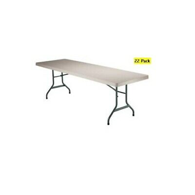 22 Pack of NEW Lifetime 6 ft Rectangular Folding Banquet Tables Almond Color Top - Pack Lifetime 6' Almond