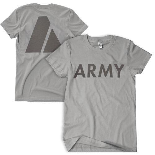 US army pt t-shirt physical fitness shirt reflective print fox 64-554