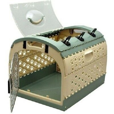 NEW Nylabone Cozy Time Pet Home & Carrier Stylish Folding Dog Cat Med Crate 20lb
