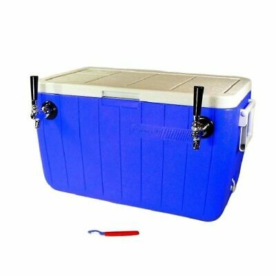 Jockey Box Cooler - Two Faucet With 2 70 Stainless Steel Coils 48qt Beer
