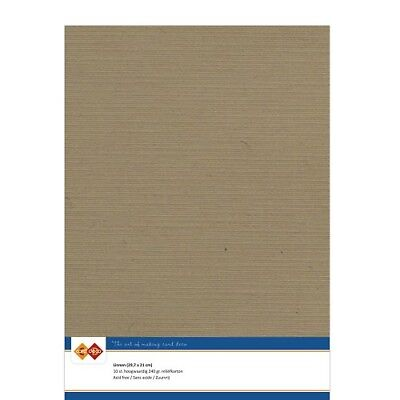 (EUR 4,81/m²) Leinenkarton 10xA4-Bogen mokka 44
