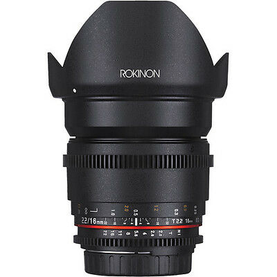 Rokinon Cine DS 16mm T2.2 Ultra Wide Angle Cine Lens for Canon EF-S - DS16M-C for sale  Burlington