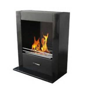 Ethanol Fireplace Black-Freestanding-or-Wall Mount) 10% Sale NOW Erina Gosford Area Preview