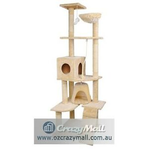 193cm Beige Giant Cat Scratching Tree Furniture Melbourne CBD Melbourne City Preview