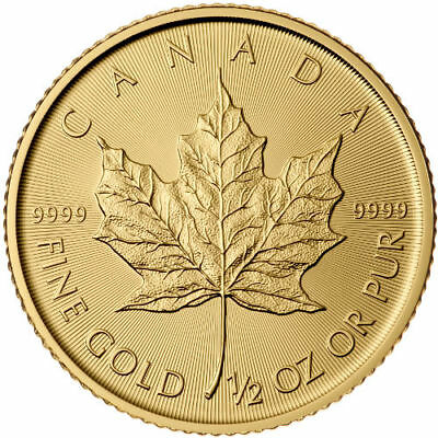 2018 1/2 oz Canadian Gold Maple Leaf Coin (BU)