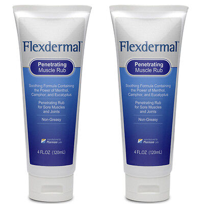 2 Tubes Flexdermal Pain Relief Arthritis Stiffness Swelling Muscle Soreness Join