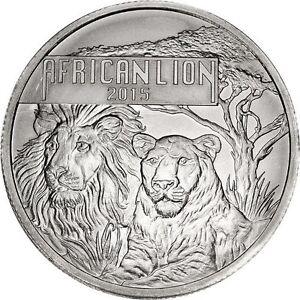 Pièce en argent/bullion silver burundi lion 1 oz 2015