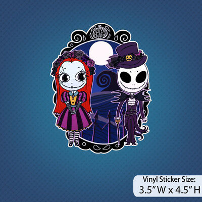 Nightmare Before Christmas /Jack and Sally/Version C / Disney/Halloween/ Sticker](Halloween Jack And Sally)