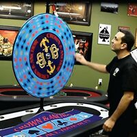 """36"""" CROWN & ANCHOR PRIZE WHEEL FOR HIRE (RENTAL)"""